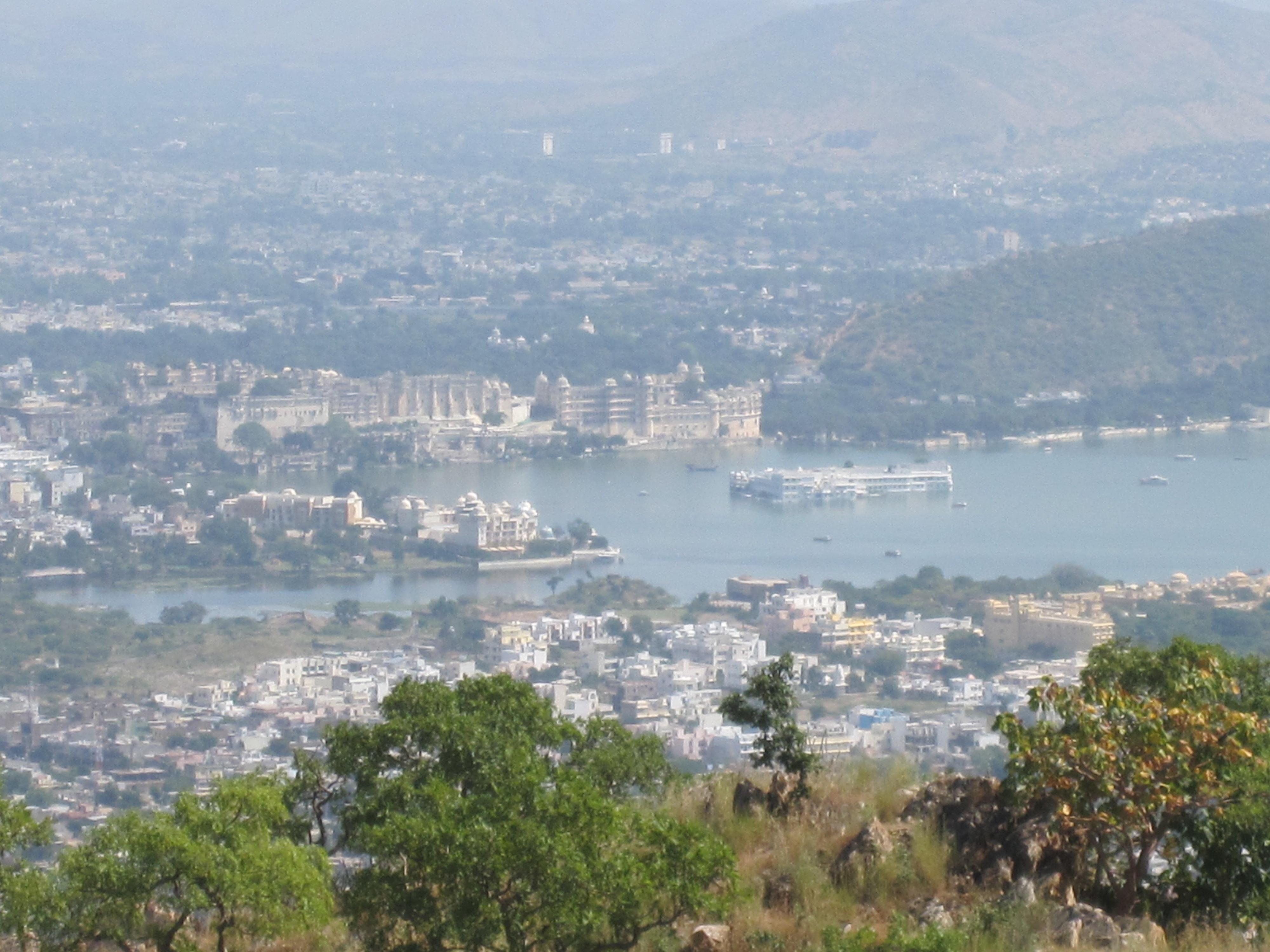 Blick auf Udaipur