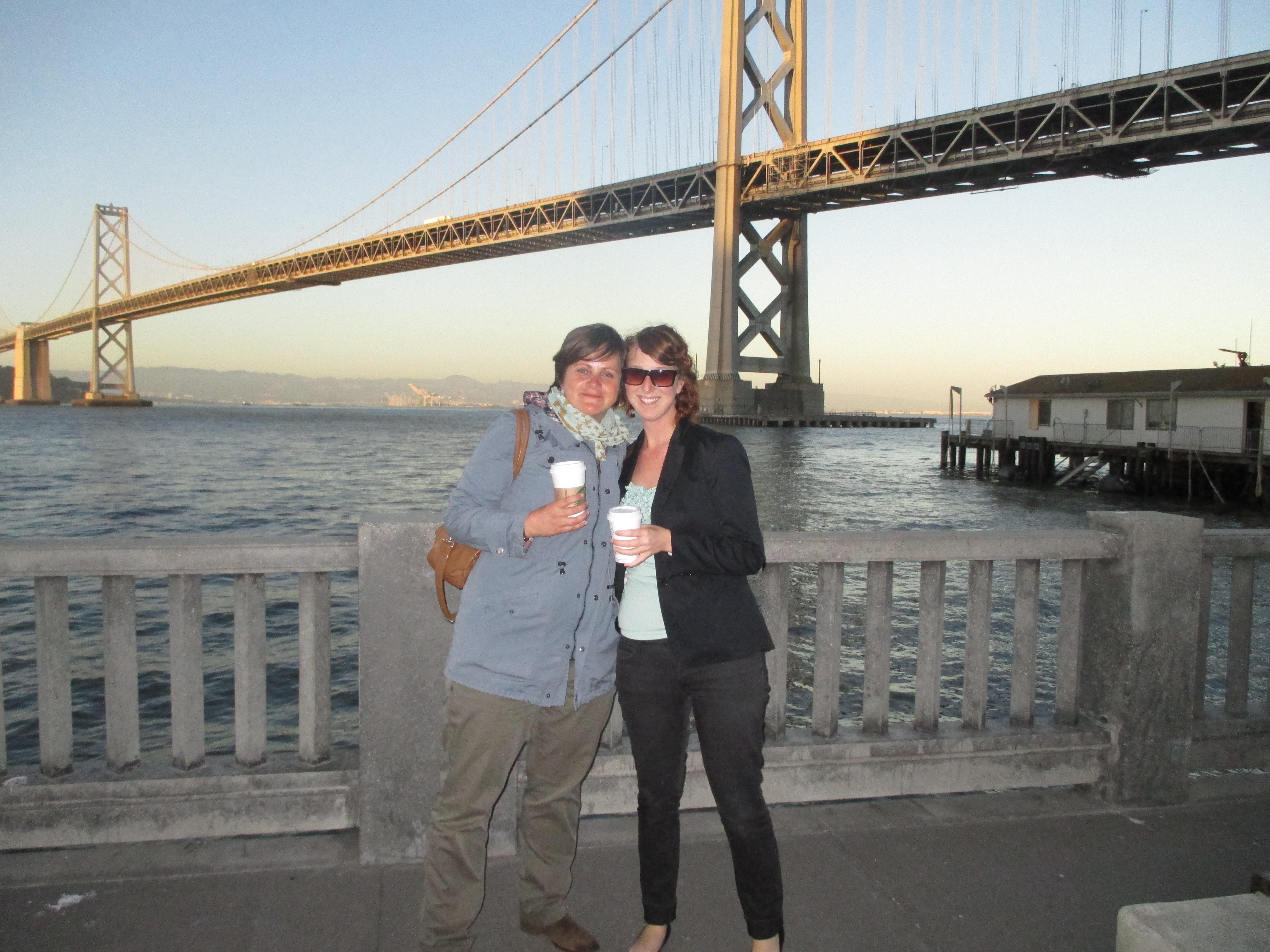 with Monique, Bay Bridge