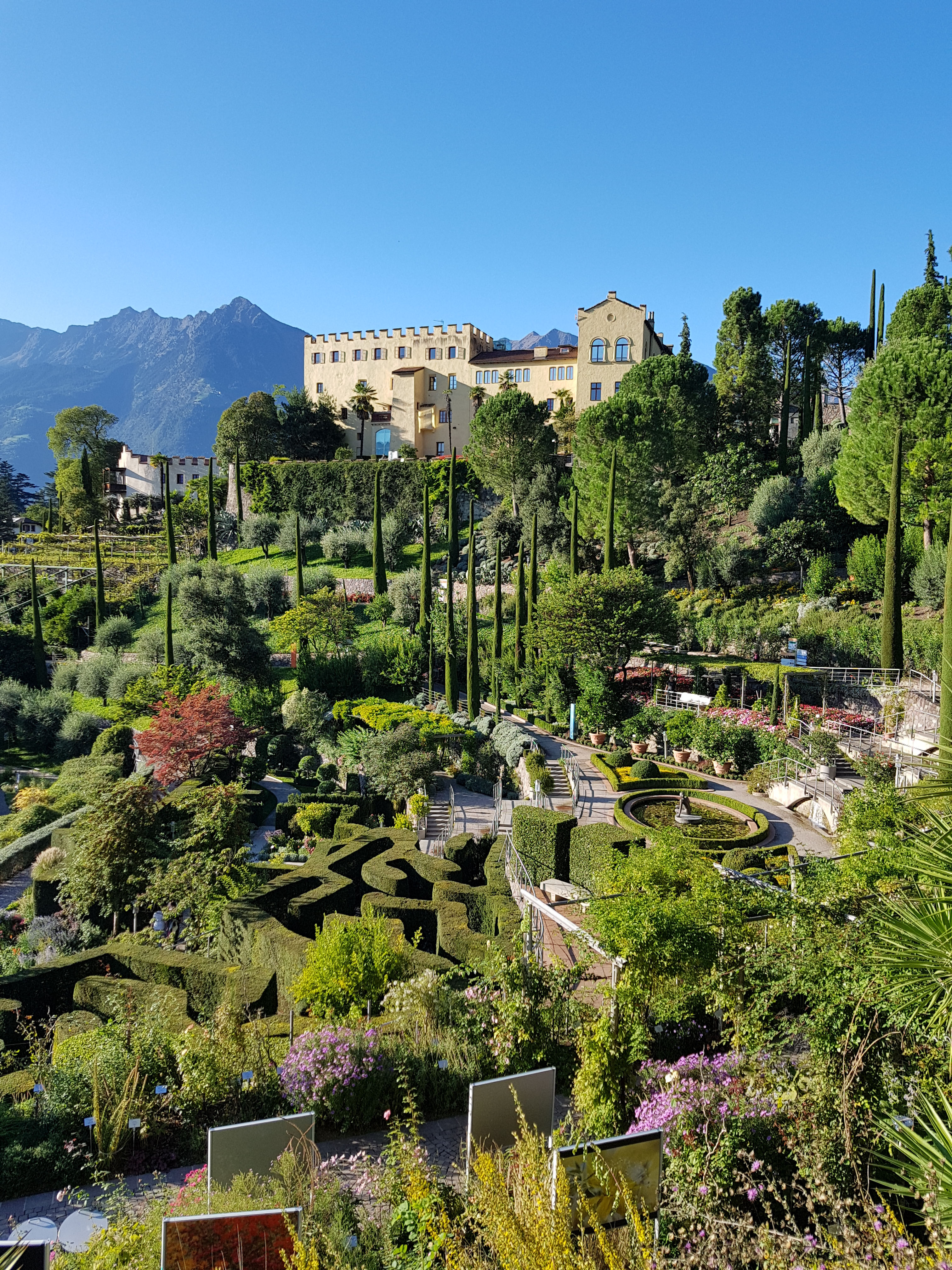 Die Gärten von Schloss Trautmannsdorff