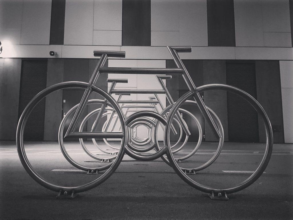 Art Installation Oslo Bikes, Barcode Area